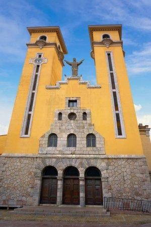 Ribadesella église de Maria Magdalena en Asturies Espagne