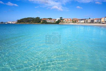 Sanxenxo also Sanjenjo Silgar beach in Pontevedra Galicia Spain