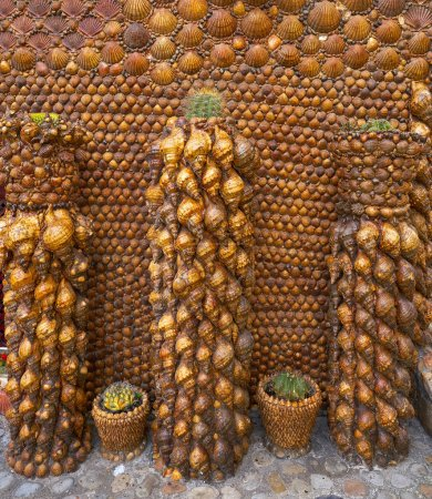 Tazones shells facades of Asturias in Spain