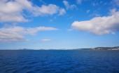 Vigo skyline from the sea of Galicia Spain