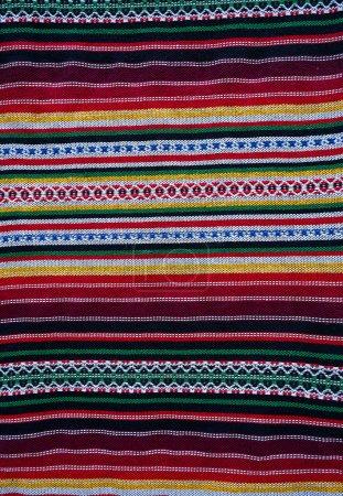 Photo pour Couvertures Alpujarras tapis à Grenade Serape coloré traditionnel - image libre de droit