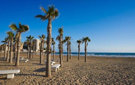 Photo pour Plage de Oropesa de Mar playa de La Concha Castellon, Espagne - image libre de droit