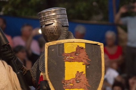 SILVES, PORTUGAL - August 11th, 2018 : Medieval costume characters in Medieval fair event.