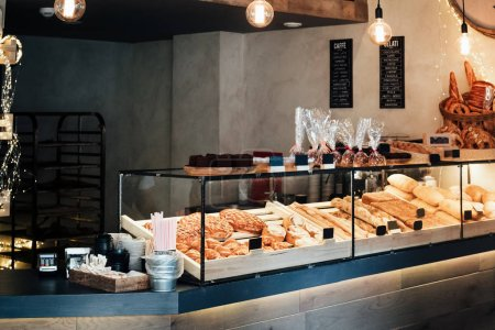Photo for A variety of pastries in the bakery - Royalty Free Image