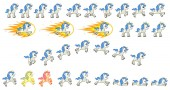 White Unicorn Game Sprites Suitable for side scrolling action adventure and endless runner game