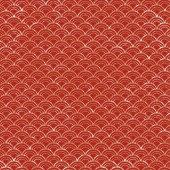 Japanese red grunge wave pattern