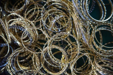 metal chains texture close up