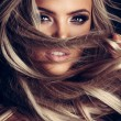 Hairstyle, haircare and fashion concept - natural ...