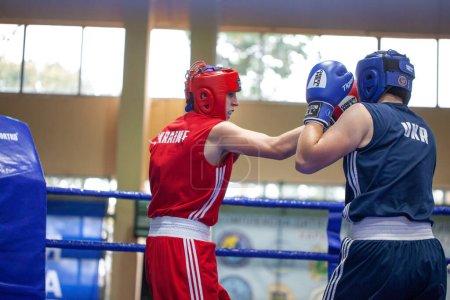 Photo for Ukrainian Boxing Cup among elite women, Ukrainian boxing championship among young women, juniors and girls,KDYUSSH-HTZ Track and field arena, Kharkiv, Ukraine,30.09.2020 - 03.10.2020. - Royalty Free Image