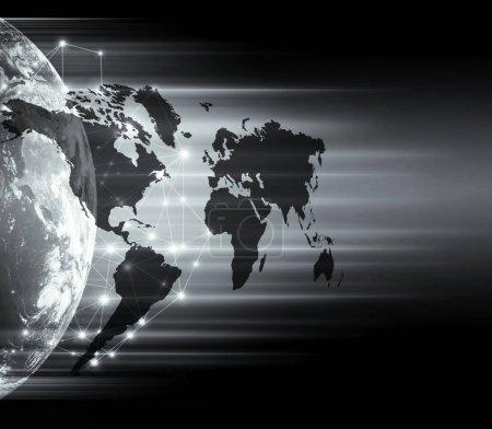 Photo pour Illustration de carte du monde physique. Source primaire et éléments de cette image fournis par la NASA - image libre de droit