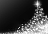 Christmas silver Tree background