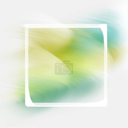 Design green banner, flyer, leaflet, cover, abstract lines of paint and frame. Template for social network, zavstka, postcard, advertising.