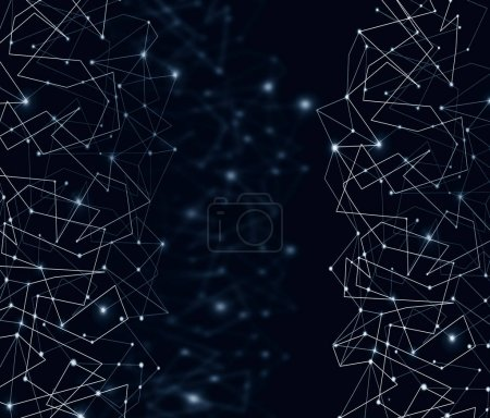 Photo for Internet connection, abstract sense of science and technology graphic design. illustration. Technological background, Internet concept of global business - Royalty Free Image