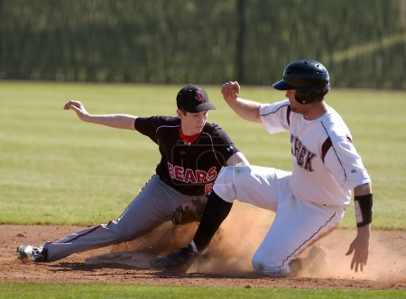 High School Baseball games in action.