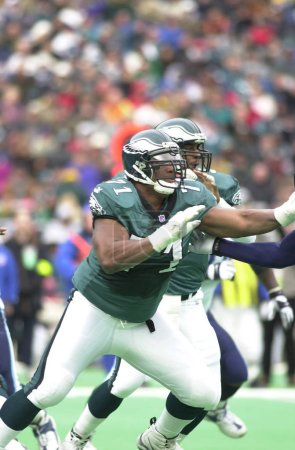 Jermane Mayberry Linebacker for the Philadelphia Eagles in game action during a regular season NFL game.