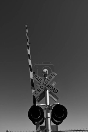 Photo pour Un train de marchandises ou train de marchandises est un groupe de wagons de marchandises américains ou wagons de marchandises (Union internationale des chemins de fer) transportés par une ou plusieurs locomotives sur un chemin de fer, transportant une partie ou la totalité du fret entre l'expéditeur et la destination prévue . - image libre de droit