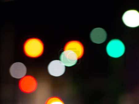 Photo for Colorful lights bokeh effect - Royalty Free Image