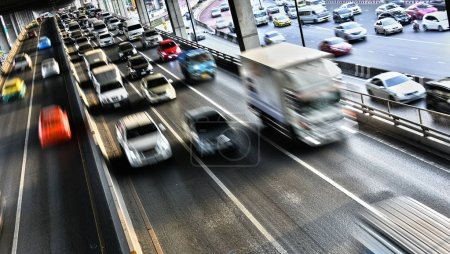 Photo for Controlled-access highway in Bangkok during rush hour - Royalty Free Image