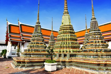 Wat Pho or Temple of the Reclining Buddha in Bangkok, Thailand.