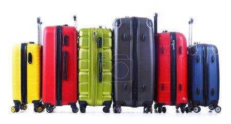 Photo pour Valises de voyage isolées sur fond blanc . - image libre de droit