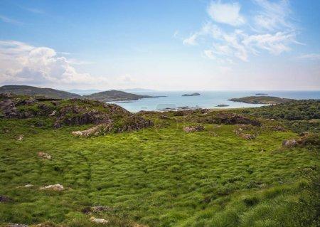 Photo pour L'Anneau du Kerry, vue sur l'océan Atlantique, Irlande, Europe - image libre de droit