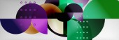 Circle background abstract Trendy shapes composition