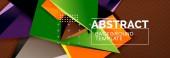 """Постер, картина, фотообои """"Вектор 3d треугольной формы абстрактный фон, футуристический шаблон оригами с линиями"""""""