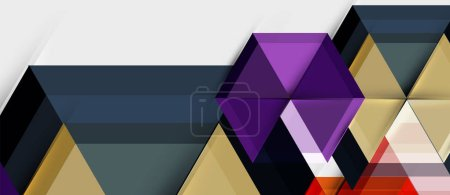 Photo for Geometric triangle and hexagon abstract background, vector illustration - Royalty Free Image