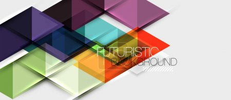 Photo for Abstract geometric background. Modern overlapping triangles. Unusual color shapes for your message. Business or tech presentation, app cover vector template - Royalty Free Image