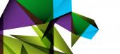 """Постер, картина, фотообои """"Винтажный абстрактный шаблон с треугольником мозаичной композиции vecton белого фона. Простой фон дизайна. Современный плоский дизайн. Красивая векторная модель."""""""