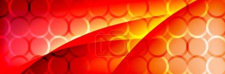 Foto de Gradiente de fluido ondas de color neón, vector de fondo abstracto - Imagen libre de derechos