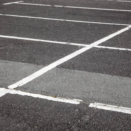 Photo for Road marking on the asphalted parking lot - Royalty Free Image