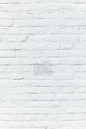 Photo pour Vieux mur de briques blanches peint en blanc comme fond harmonique - image libre de droit