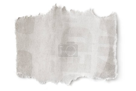 Torn blank paper with copyspace, isolated on white with soft shadow.
