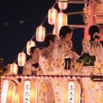 TOKYO, JAPAN - AUGUST 12TH, 2018. Dancers in tradi...