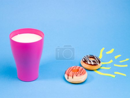 Photo for Delicious beautiful donuts, sweets - Royalty Free Image