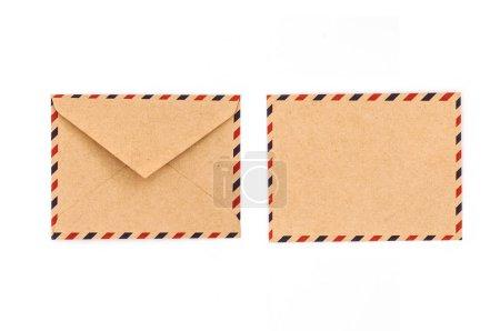 retro envelopes isolated on white background