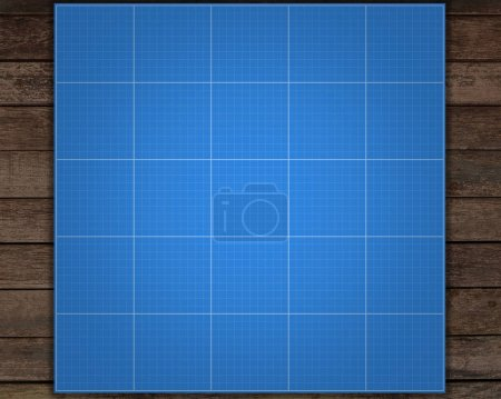 Blueprint grid background, graphing paper for engineering