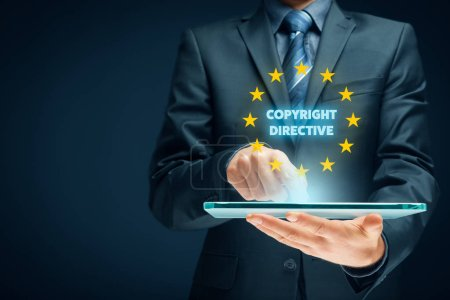 Photo for Copyright directive concept - EU protection of creative content. - Royalty Free Image