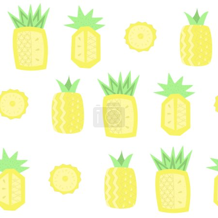 Photo for Tropical fruits seamless pattern, vector wallpaper, textile print - Royalty Free Image