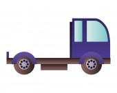cargo transport truck isolated icon