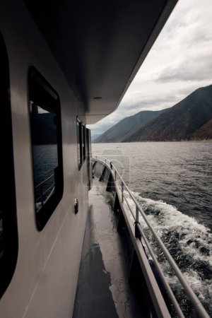 ship on the Baikal Lake