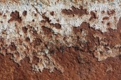 interesting abstract texture. A sheet of metal covered with shapeless stains of rus
