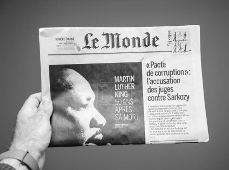 Le Monde about Martin Luther King death 50th anniversary