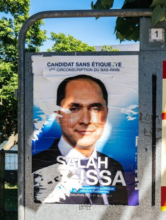 Posters French legislative election independent candidate