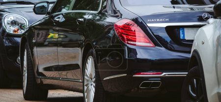 Luxury Maybach car parked on street