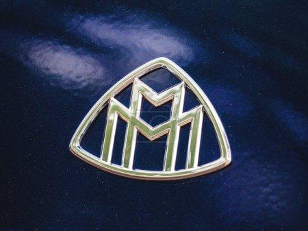 Maybach Mercedes logotype insignia on a car body