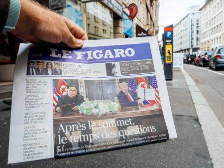 Le Figaro about Trump Kim