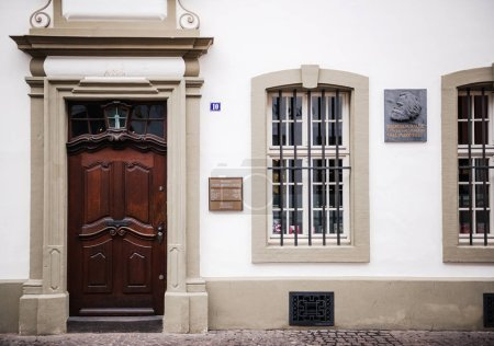 Entrance to the house were Karl Marx, the German philosopher,