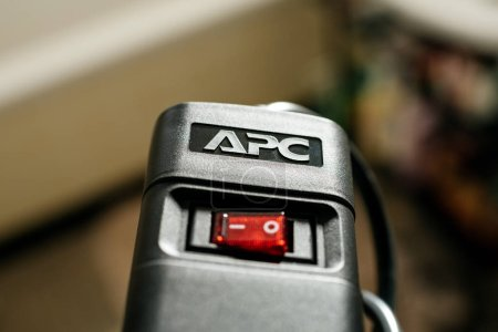 Logotype on the APC UPS power strip